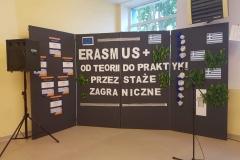 """ERASMUS + - """"Dzień Grecki w ZSTE w Skawinie"""" - podczas dnia otwrtego promowaliśmy nasz projekt: """"Od teorii do praktyki przez staże zagraniczne"""""""