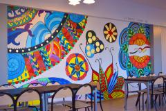 świetlica szkolna (budynek nr 1 - mural namalowany w trakcie zjęć podczas wymiany polsko - niemieckiej - 2018r.)