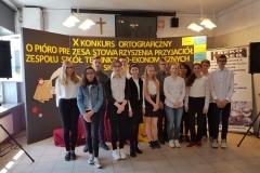 X Konkurs Ortograficzny o Pióro Prezesa Stawoarzyszenia ZSTE w Skawinie